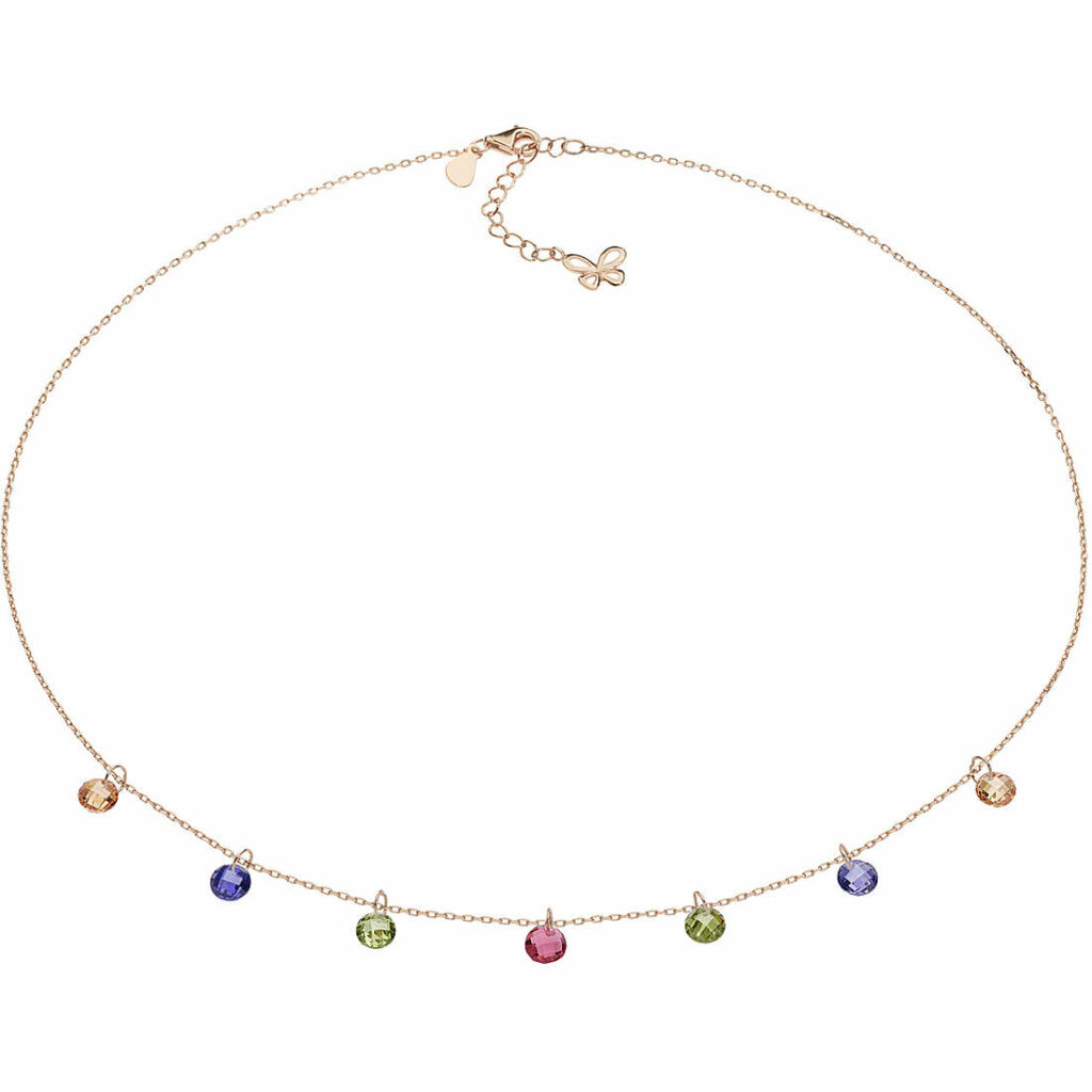 Collana donna con cristalli colorati Comete